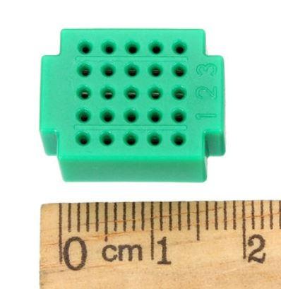 Mini breadboard / Mini dugaszolós próbapanel 25 csatlakozásos