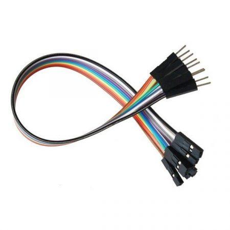 10 db Színes Breadboard Jumper kábel 20cm Arduino -hoz (anya-apa)