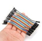 10 db Színes Breadboard Jumper Kábel 10cm Arduino -hoz (apa-apa)