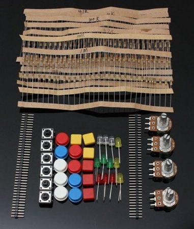 Elektronikai alkatrész kit Arduino projektekhez