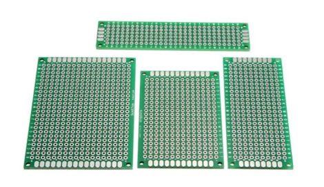 Kétoldalas PCB lapok 4 méretben (FR-4/ 2.54mm)
