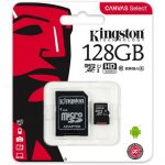 Kingston 128GB Canvas Select 80R Class 10 UHS-1 microSDXC memóriakártya adapterrel
