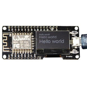 "Wemos NodeMcu Internet of Things mikrovezérlő Wifi ESP8266 + 0.96"" OLED kijelző"