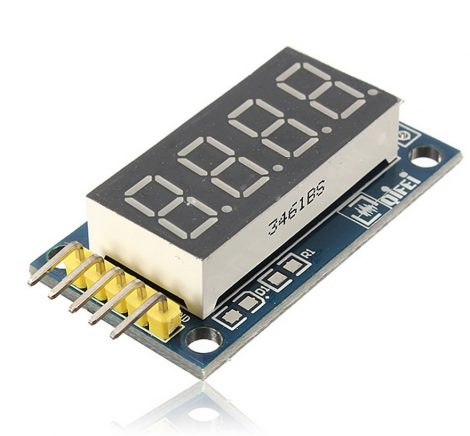 4 bites 7 szegmenses kijelző / LED display module