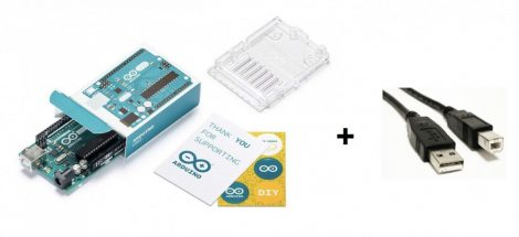 Arduino UNO Rev3 (A000066) + A-B típusú USB kábel