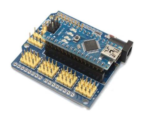 Geekcreit replika -ATmega328P V3 Controller Alaplap kábellel +  Arduino Nano-hoz I/O shield V3