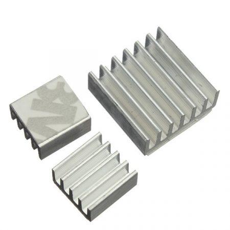 Hűtőborda készlet Raspberry PI2 / PI 3-hoz (Alumínium)