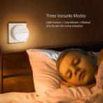 BlitzWolf BW-LT10 éjszakai lámpa, időzítő, 1W fogyasztás, 3000K színhőmérséklet