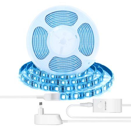 BlitzWolf® BW-LT11-LED szalag RGB 5 méteres okostelefonról vezérelhető szett