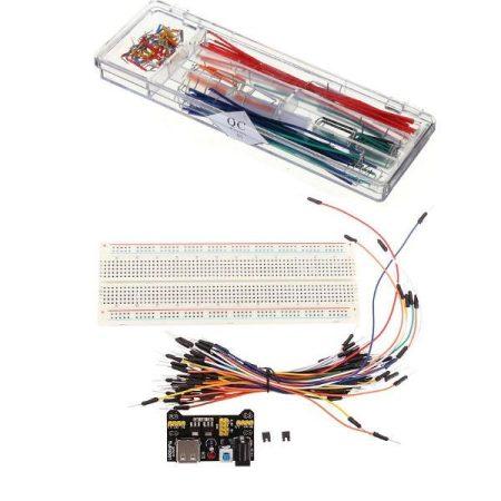 Breadboard + MB102 tápegység + 65 Jumper kábel + Dupont KIT
