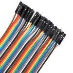 10 db Színes Breadboard Jumper kábel 10cm Arduino -hoz (anya-anya)