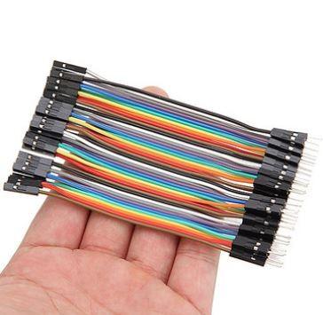 10 db Színes Breadboard Jumper kábel 10cm Arduino -hoz (anya-apa)