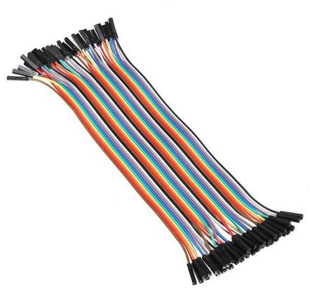 40 db Színes Breadboard Jumper kábel 20 cm Arduino-hoz (anya-anya)