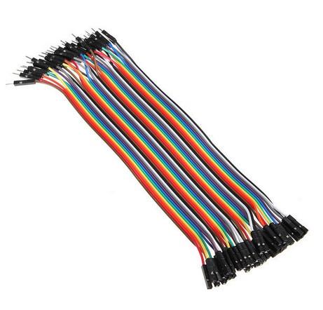 40 db Színes Breadboard Jumper kábel 20 cm Arduino-hoz (anya-apa)