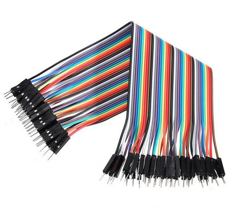 40 db Színes Breadboard Jumper kábel 20 cm Arduino-hoz (apa-apa)