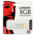 Kingston 8GB Data Traveler Generation 4 USB3.0 pendrive sárga