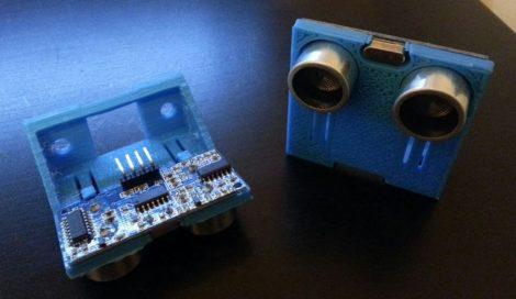 Ultrahangos távolságmérőhöz 3D nyomtatott mount