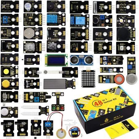 Keyestudio 48 in 1 szenzor készlet - hobbielektronikai szenzor KIT