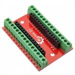 Arduino Nano-hoz I/O shield - sorkapcsos
