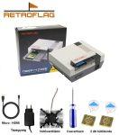 RETROFLAG NESPi 4 CASE - Raspberry Pi 4-hez ház ventillátorral - hűtőbordával - tápegységgel- Retropie
