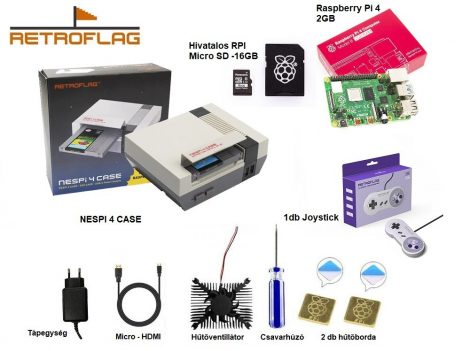 RETROFLAG NESPi 4 CASE - FULL csomag - CSOMAGAJÁNLAT