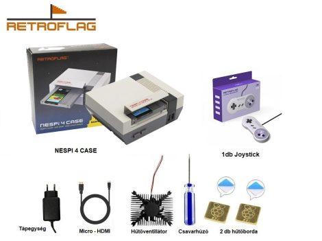 RETROFLAG NESPi 4 CASE + RETROFLAG Classic U típusú USB Kontroller  - Raspberry Pi 4-hez - CSOMAGAJÁNLAT