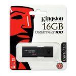 Kingston 16GB Data Traveler 100 Generation 3 USB 3.0 pendrive fekete