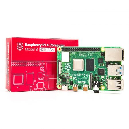Raspberry Pi 4 Model B - 4GB 64 bit 1.5GHz Quad-Core - Bluetooth / 802.11 b/g/n/ac WIFI/ Gigabit Ethernet