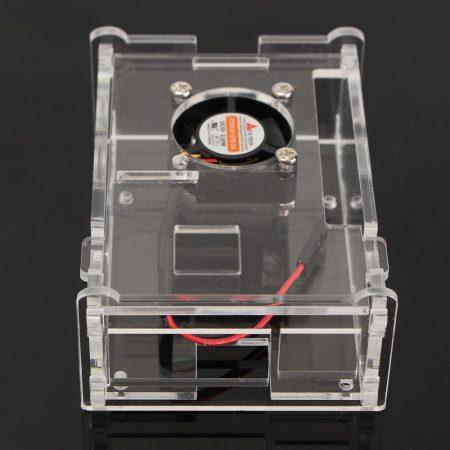 Műanyag Raspberry Pi 3 Model B ház ventilátorral