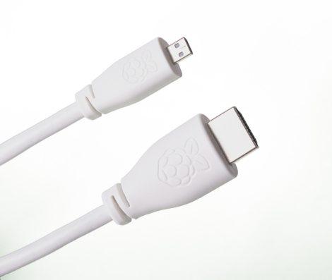 Raspberry Pi Micro HDMI - HDMI kábel 1m fehér