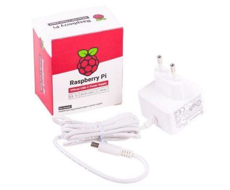 Raspberry Pi hálózati adapter 5.1VDC 3.0A USB-C fehér