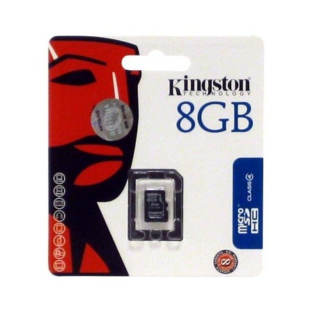 Kingston 8GB Class 4 microSDHC memóriakártya