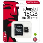 Kingston 16GB Canvas Select 80R Class 10 UHS-1 microSDHC memóriakártya adapterrel