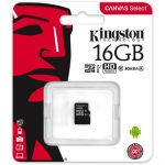 Kingston 16GB Canvas Select 80R Class 10 UHS-1 microSDHC memóriakártya