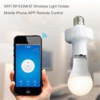 SONOFF® E27 LED Wifi-s villanykörte aljzat távirányítható okostelefonnal (iOS, Android)