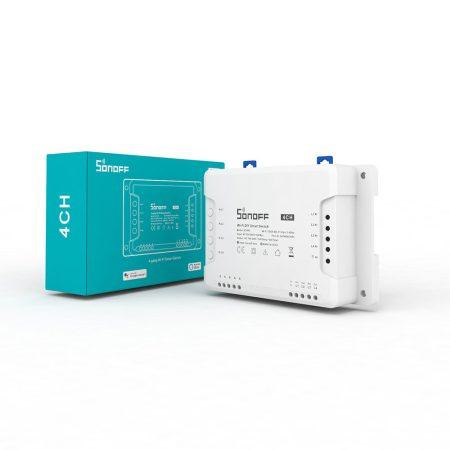Sonoff 4CH R3 WiFi-s , négy áramkörhöz, intereneten keresztül vezérelhető kapcsoló relé