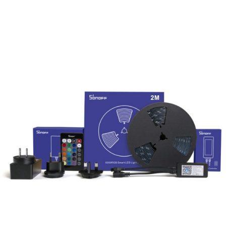Sonoff L1 beltéri/kültéri RGB LED szalag (2 méter), WiFi-s, internetről távvezérelhető, party üzemmóddal