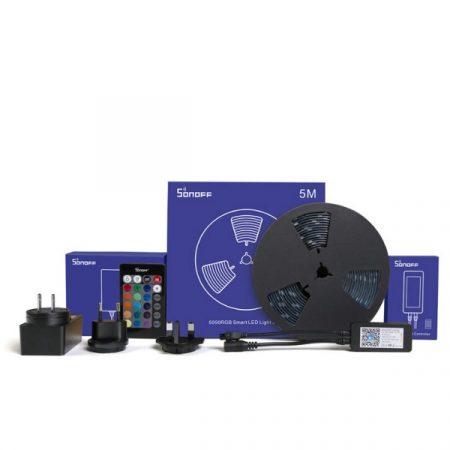 Sonoff L1 beltéri/kültéri RGB LED szalag (5 méter), WiFi-s, internetről távvezérelhető, party üzemmóddal