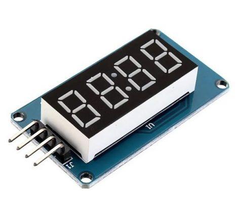 4 bites LED 7 szegmenses kijelzőmodul- I2C-TM1637 - Piros