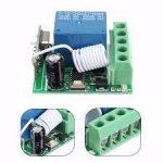 433MHz vezetéknélküli relé RF vevő DC12V 10A 1CH