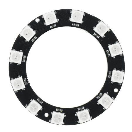 12 bites WS2812 5050 RGB LED köralakú