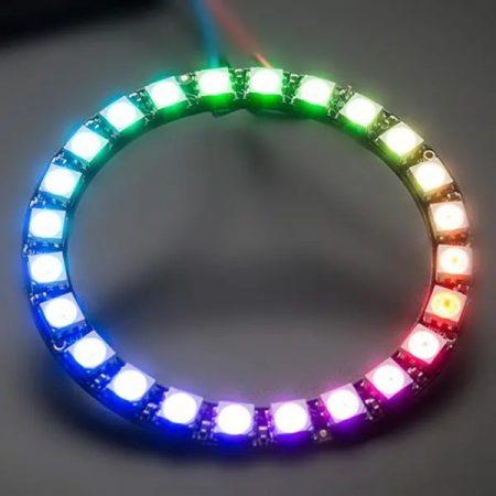24 bites WS2812 5050 RGB LED köralakú