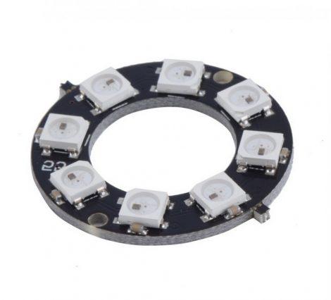 8 bites WS2812 5050 RGB LED köralakú
