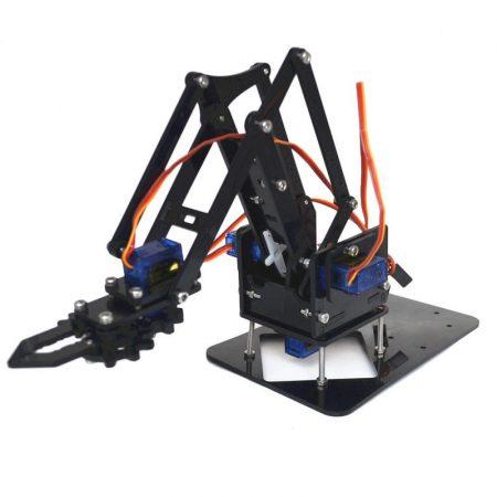 4DOF Robotkar KIT váz - 4 tengelyes  összeszerelhető + 4db SG90 típusú szervomotorral